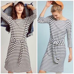 Anthropologie Becky Tie-Waist Stripe Dress